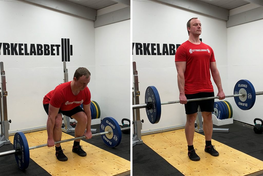 Deadlift bottom and top position