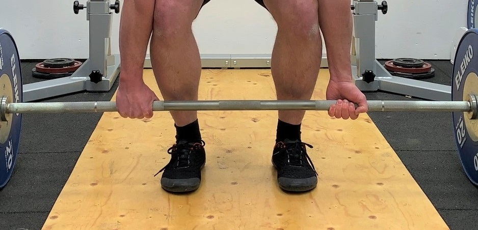Deadlift with mixed grip.