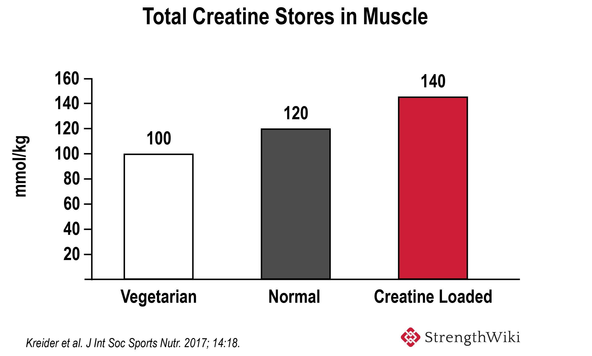 Total creatine content in muscle